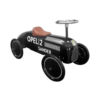 Picture of Retro ride-on car, black