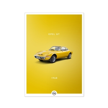 Picture of Historic poster, Opel GT, DIN A2